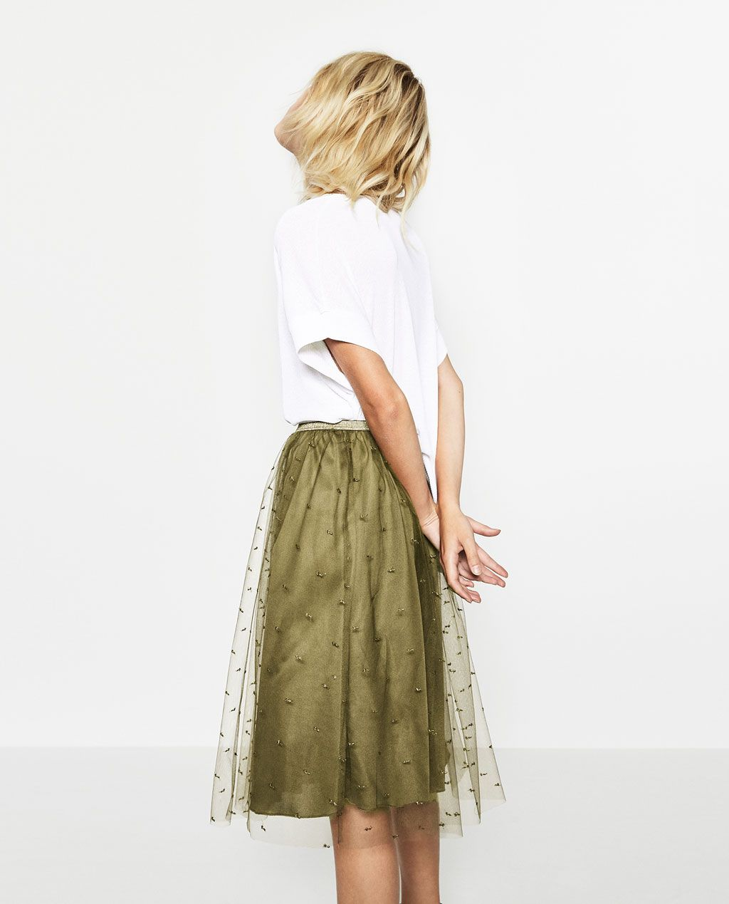 image 3 of tulle skirt from zara w a r d r o b e