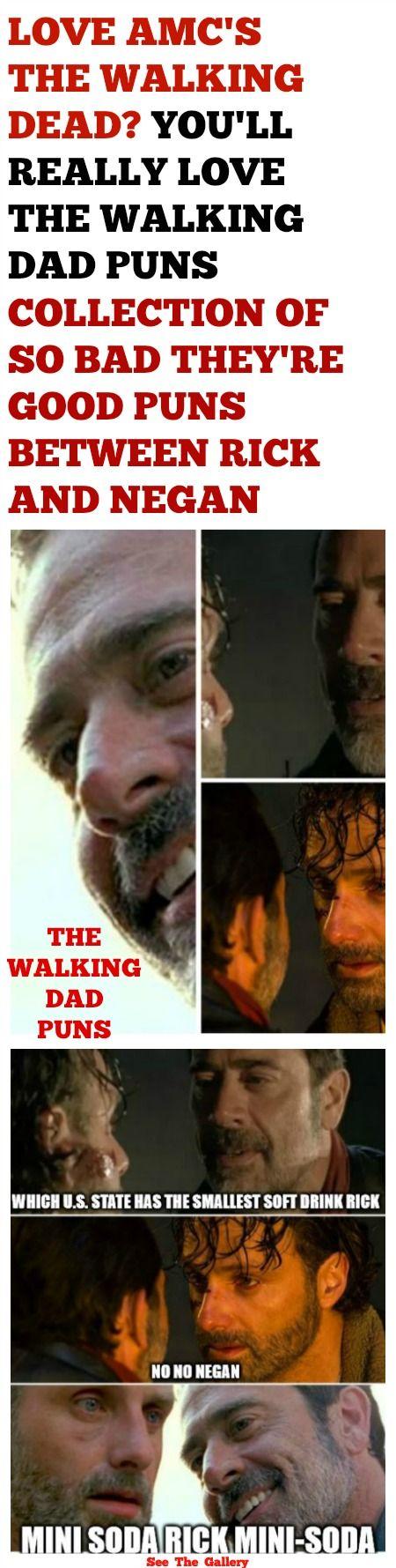 THE WALKING DEAD NEGAN KILLS RICK WITH DAD PUNS MEMES COLLECTION omgshots.com/... http://ibeebz.com