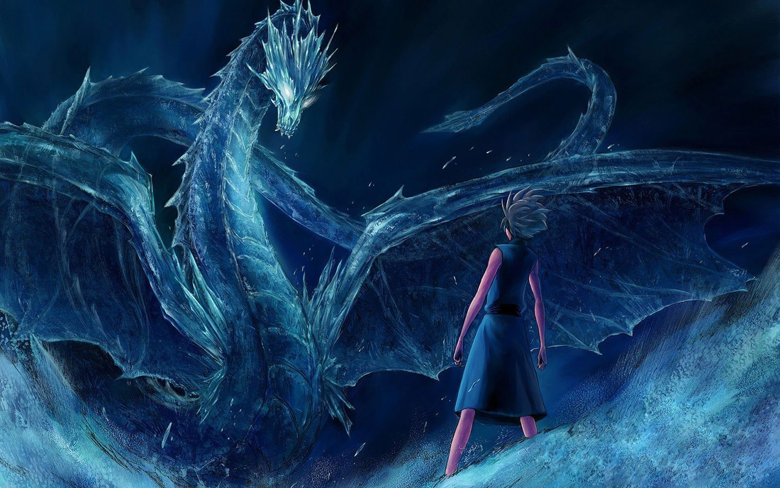 Wallpapers For Ice Dragon Wallpaper Ice Dragon Space Dragon Blue Dragon