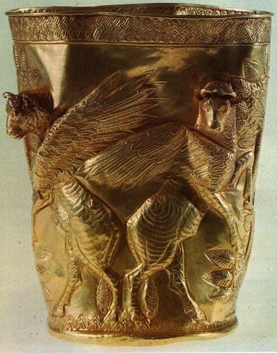 Achaemenid Golden Vase - Iran - 500 B.C.   #Achaemenids