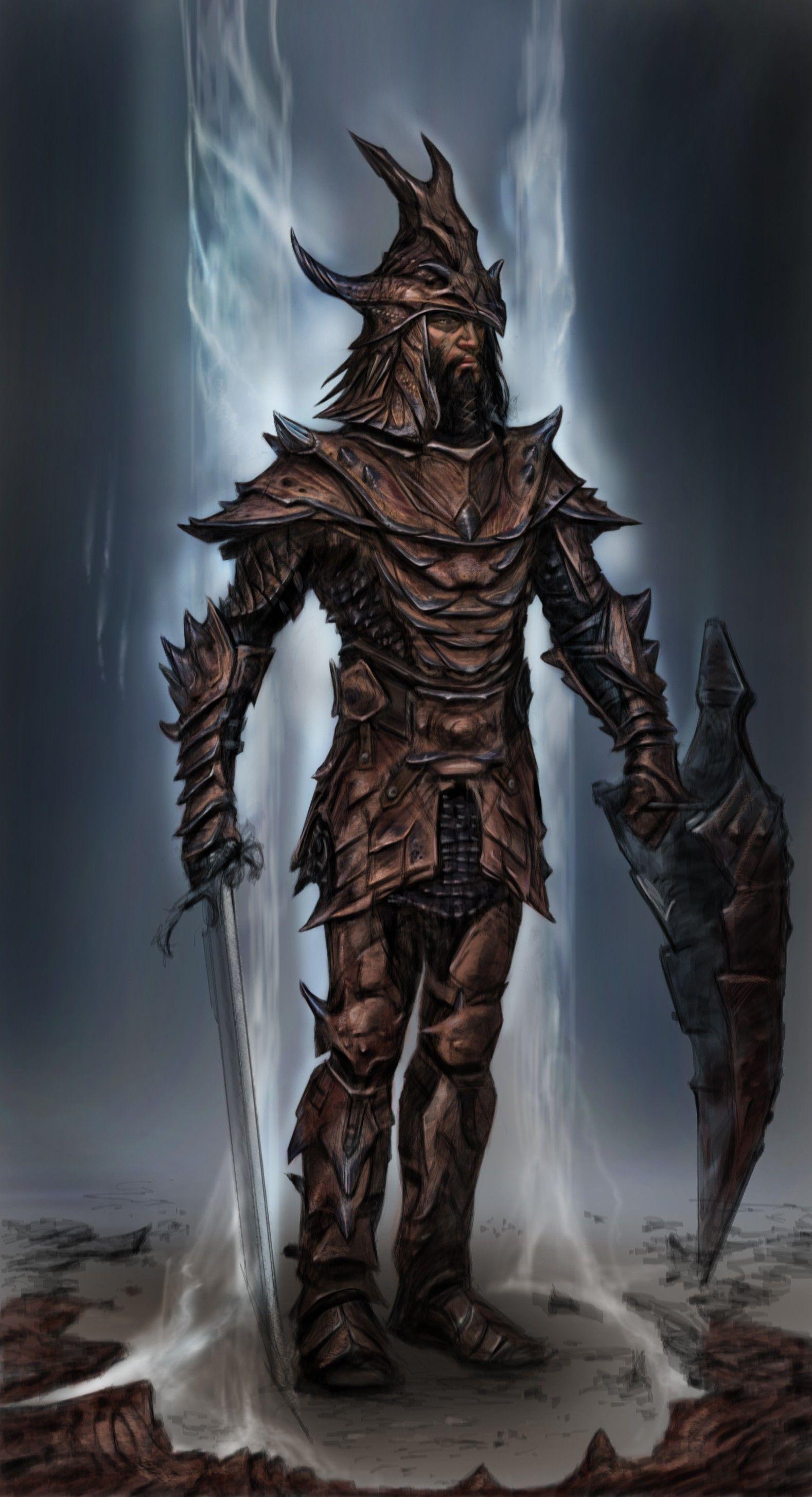 Skyrim Dragon Armor Adam Adamowicz Elder Scrolls