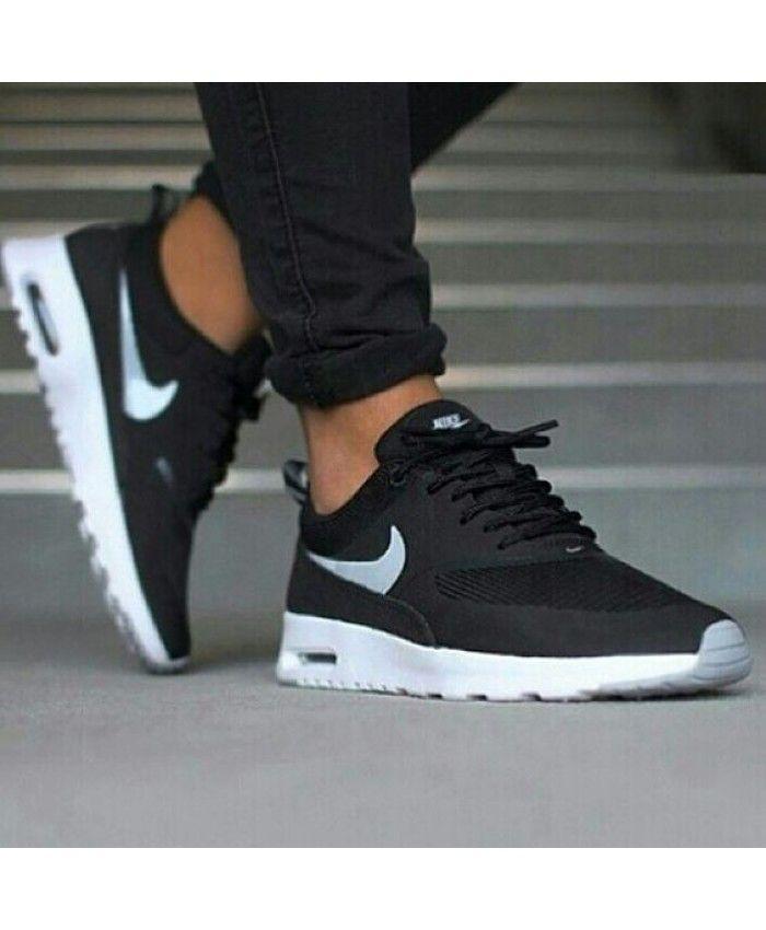 Nike Air Womens Formateurs Noir Et Blanc Max Thea Chaussures jeu énorme surprise wd0xiFIM