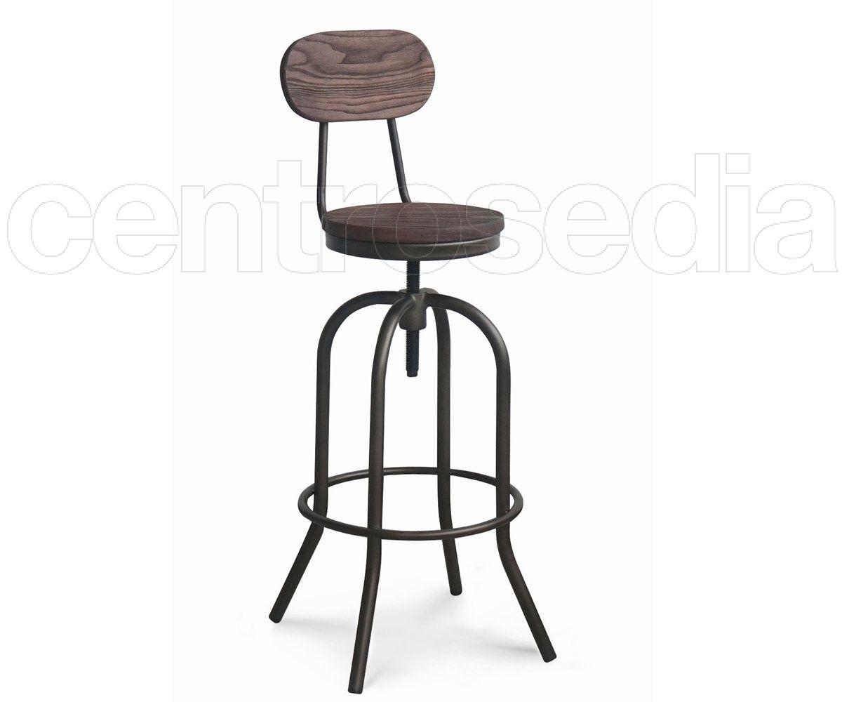 Sgabelli bar set sgabelli bar alti legno di faggio seduta abs