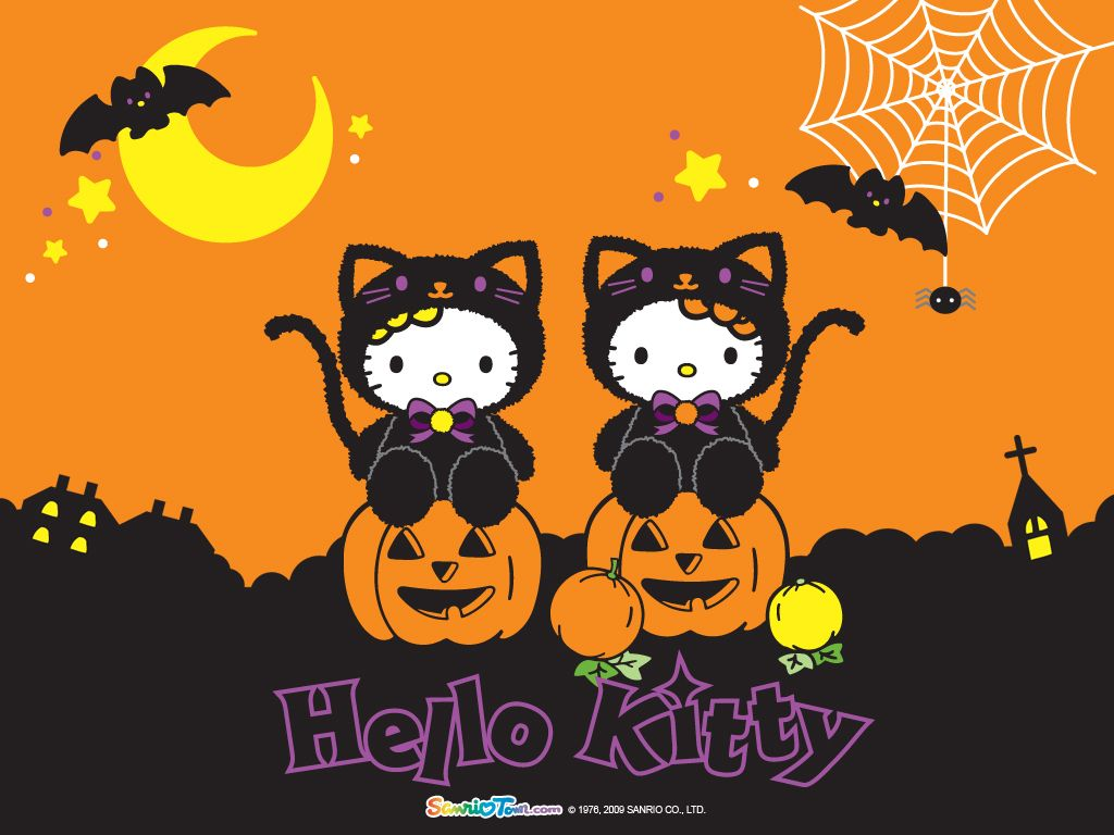Halloween Kitty Hello kitty Halloween wallpapers  HALLOWEEN mini gifs animados  Hello Kitty  Pinterest  Hello Kitty Halloween, Hello Kitty and Kitty