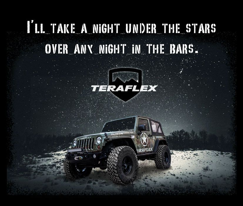 I'll take a night under the stars over any night in the bars.  #teraflex #jeepmeme