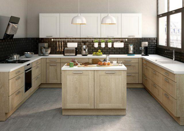 cuisine en u ce qu 39 on a rep r chez les cuisinistes id es cuisines pinterest cuisines. Black Bedroom Furniture Sets. Home Design Ideas