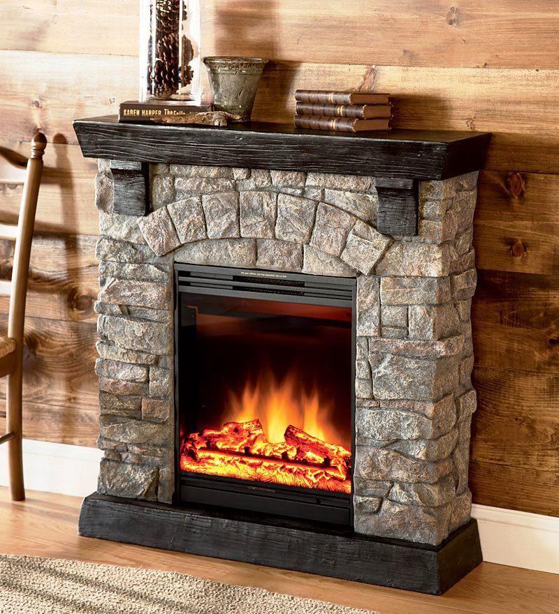 Faux Fieldstone Fireplace Chimenea Bricolaje Chimenea Falsa