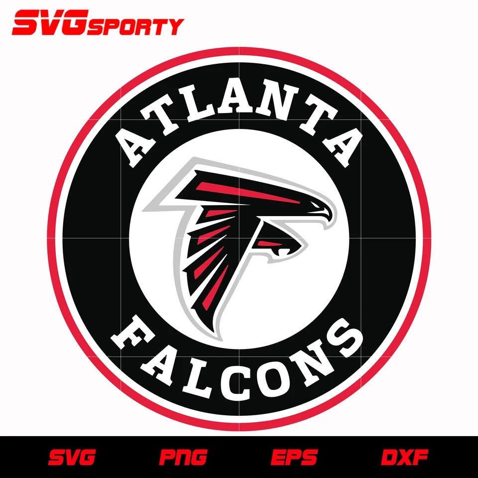 Atlanta Falcons Circle Logo 2 Svg Nfl Svg Eps Dxf Png Digital File In 2020 Atlanta Falcons Svg Atlanta Falcons Circle Logos