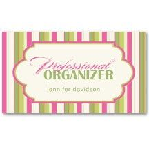 Professional Organizer Business Cards With Images Business