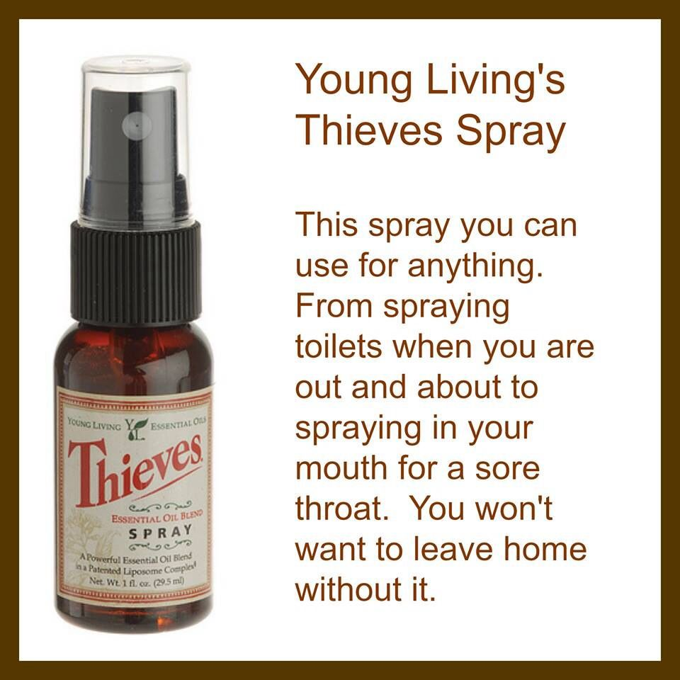 Thieves Spray If You Would Like To Know More About Young Living