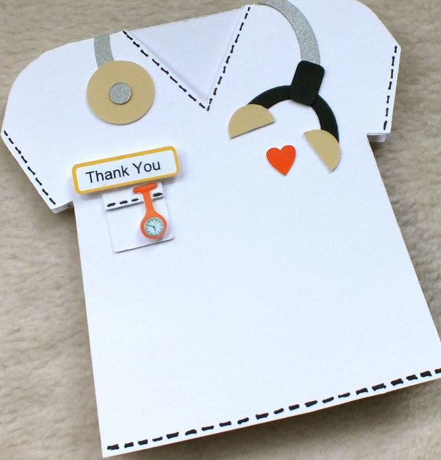 Special Doctor Vet Or Nurse Handmade Thank You Card Handmade Thank You Cards Cards Cards Handmade