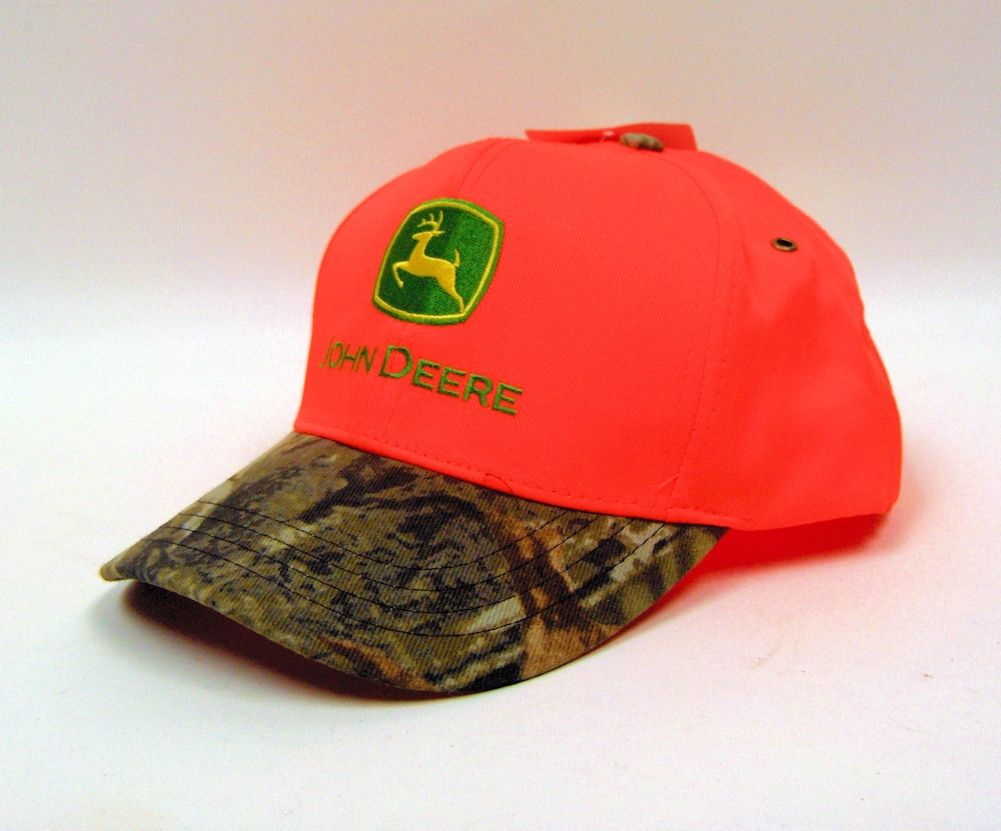 fd086fc179f9c John Deere Advantage Timber Blaze Orange Cap with Camo Visor