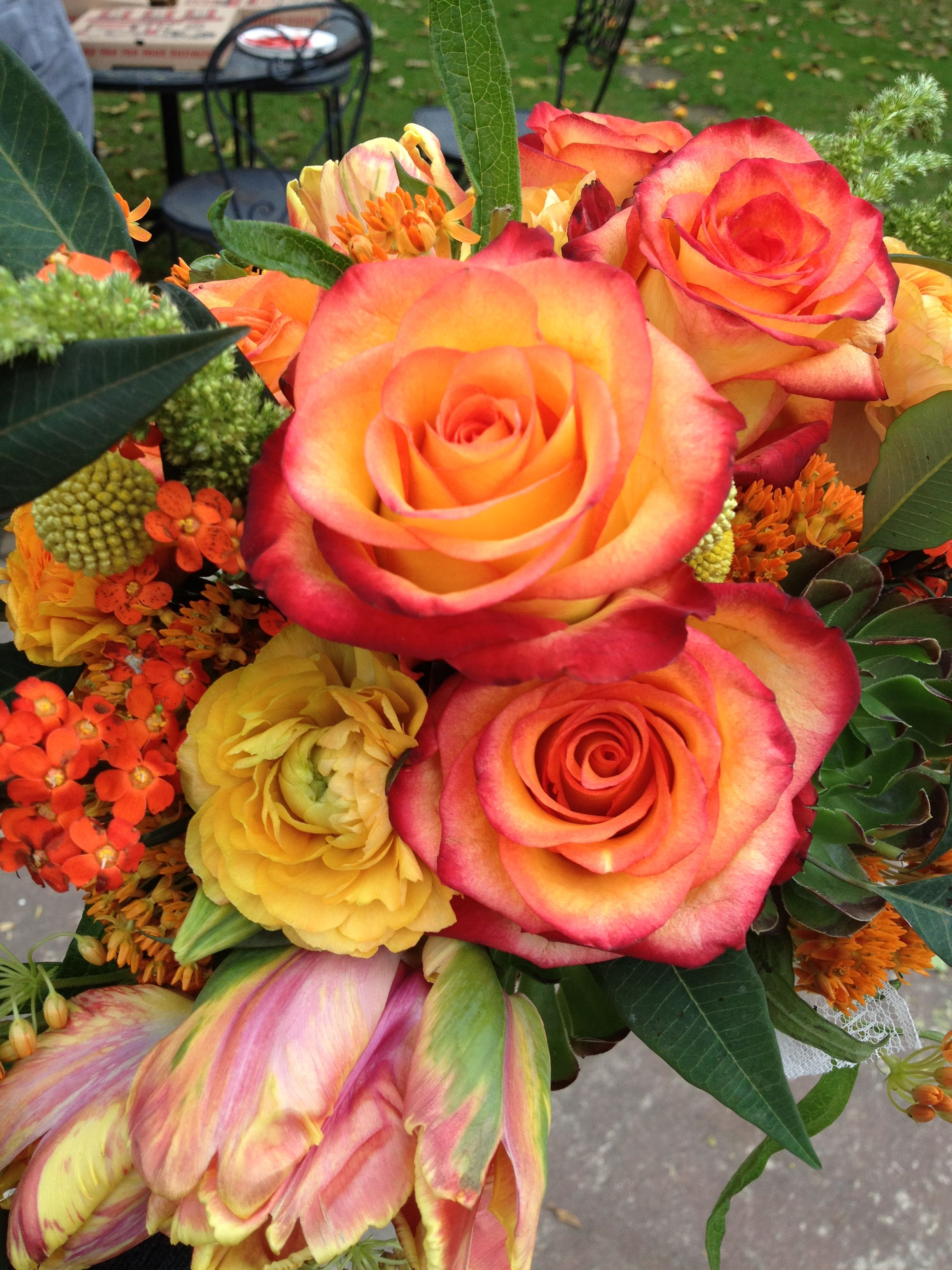 Gorgeous Rustic Flower Bouquet From The Enchanted Florist In Orange