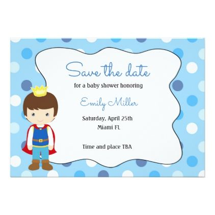 Prince Baby Shower Save The Date Card Savethedate Wedding Love