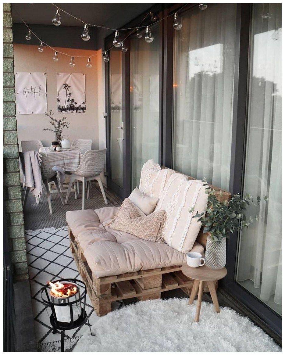 75 cozy apartment balcony decorating ideas 31 | Small ...