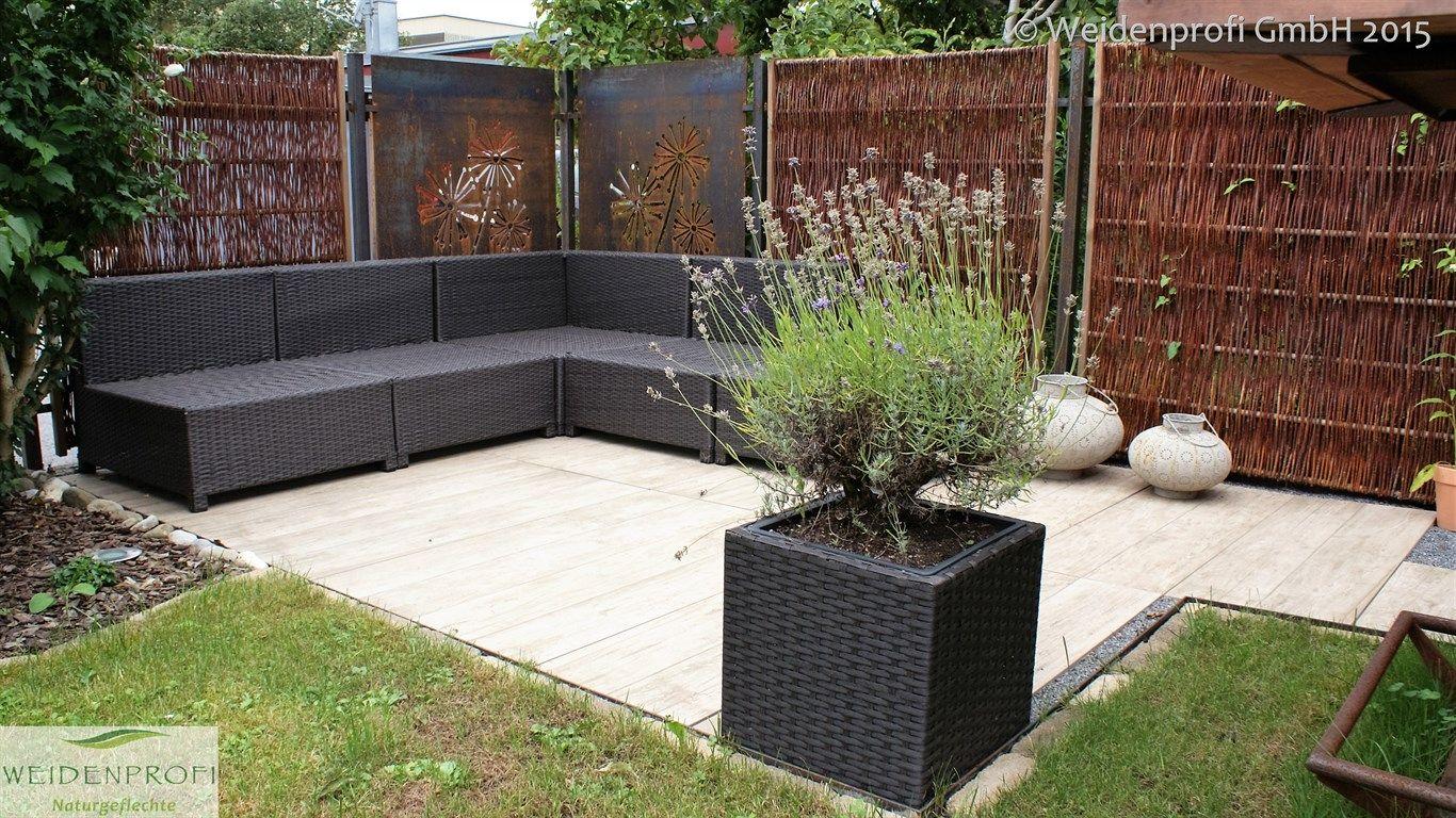 weidenzaun lato solid mit seitlichem rahmen weidenz une naturz une sichtschutz pinterest. Black Bedroom Furniture Sets. Home Design Ideas