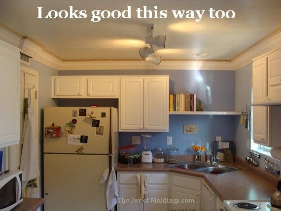 Image result for should kitchen crown molding match