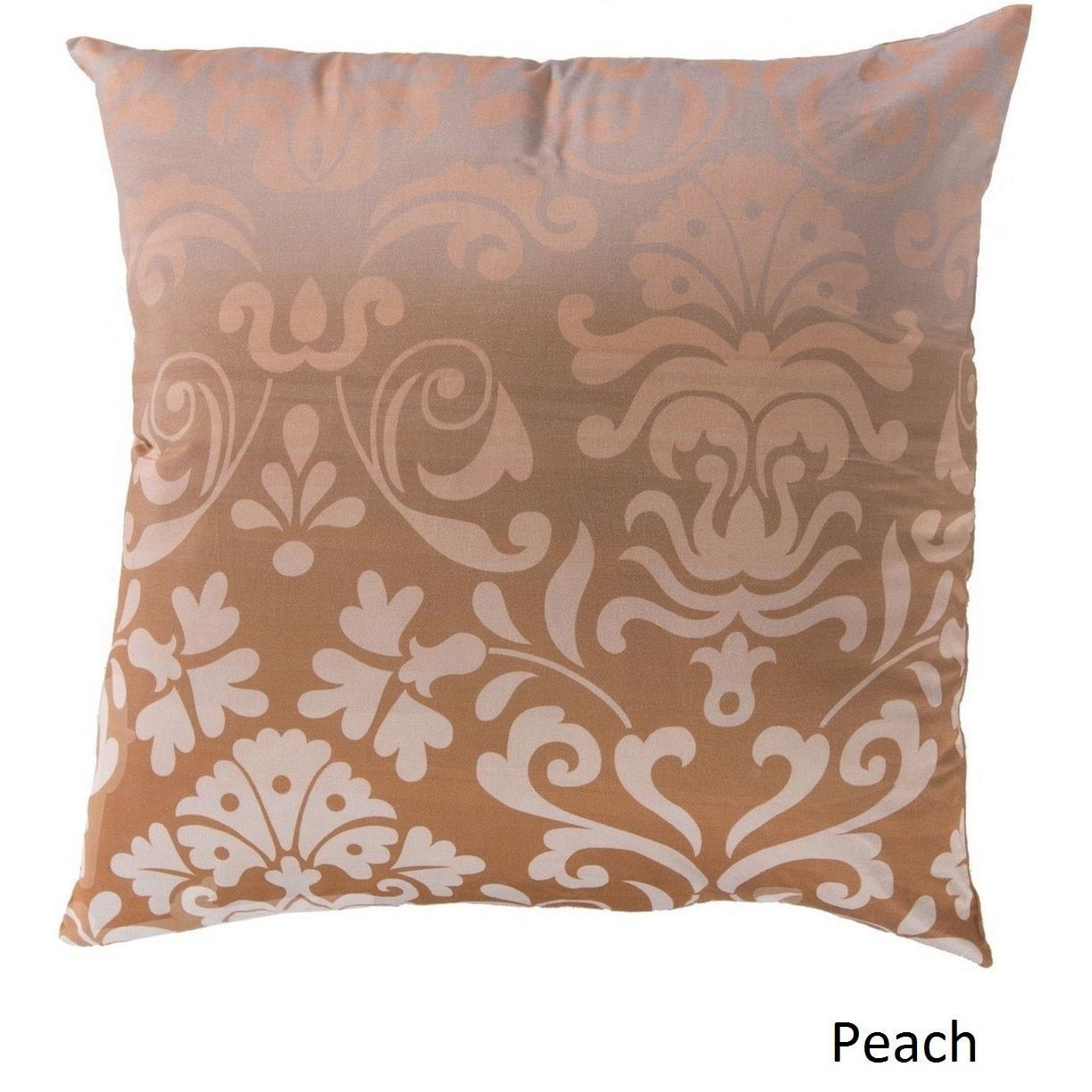 Decorative Southall 22-inch Floral Pillow Cover (Orange/Off-White (Beige)/Pink), Size 22 x 22