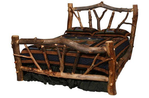 Aspen Stickley Forest Log Bed, log bed, Aspen Log Furniture ...