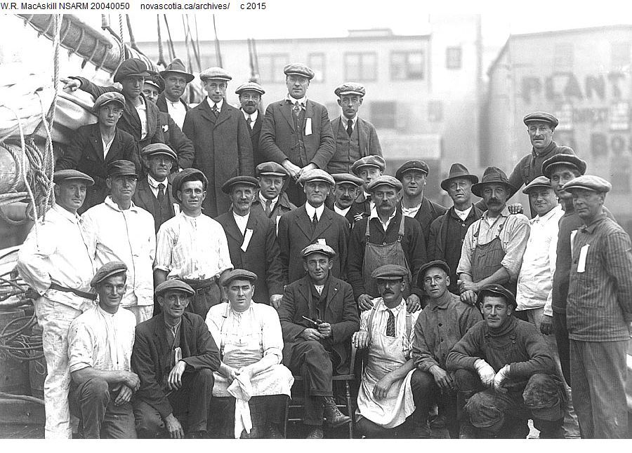 crew of the bluenose at the a m smith wharves halifax. Black Bedroom Furniture Sets. Home Design Ideas