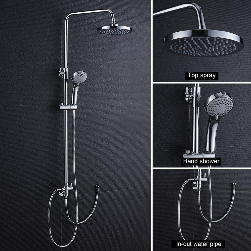 2 Jahre Garantie Duschsäule Chrom Regendusche Duschset