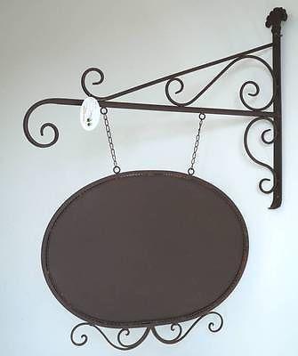 Style ancienne enseigne plaque de porte portail en metal fer forge murale terrasse exterieure for Porte fer forge ancienne