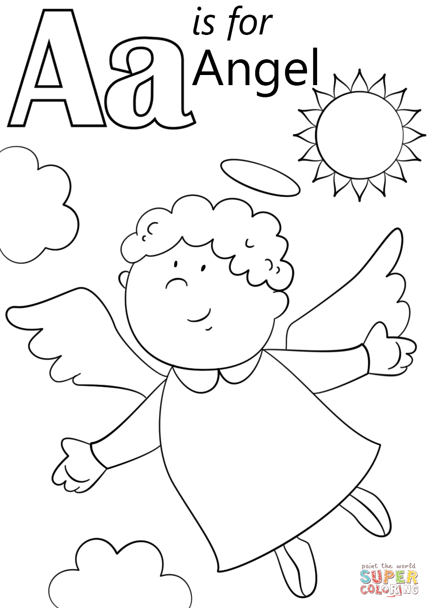 Letter A is for Angel | Super Coloring | Advent in the Rockies ...