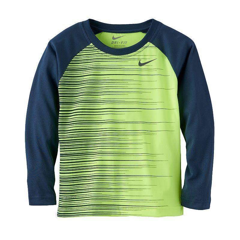 Boys 4-7 Nike Dri-FIT Brushstroke Tee, Boy's, Size: 4, Lt Yellow