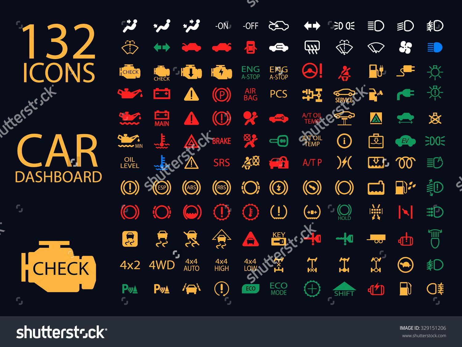 Warning Light Stock Images RoyaltyFree Images Vectors Girl Talks - Car sign on dashboard