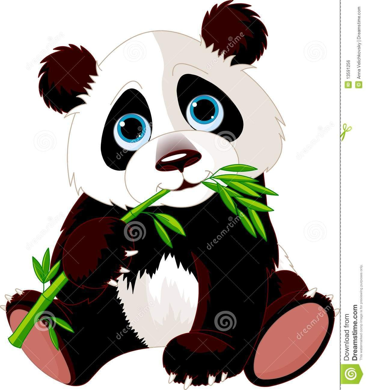 Panda Que Come O Bambu Imagem De Stock Royalty Free Imagem