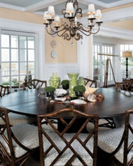 Mahogany Pedestal Table And Tortoiseshell Stain Cane Chairs Custom Cane Dining Room Furniture 2018