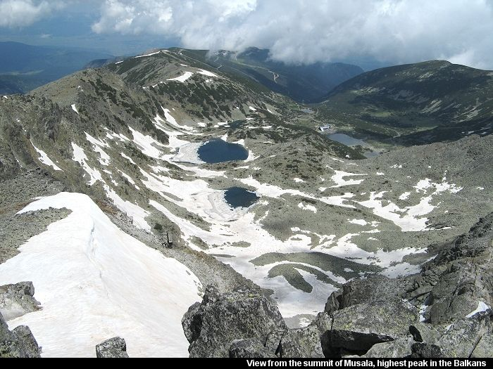 View from the summit of musala the highest peak in the balkans grekland sciox Choice Image