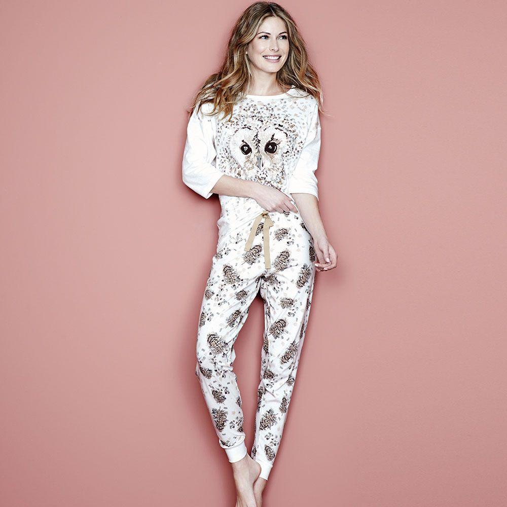 Ladies Avon Leopard or Owl Pyjamas PJ Lounge Set UK Size 8-26 new!