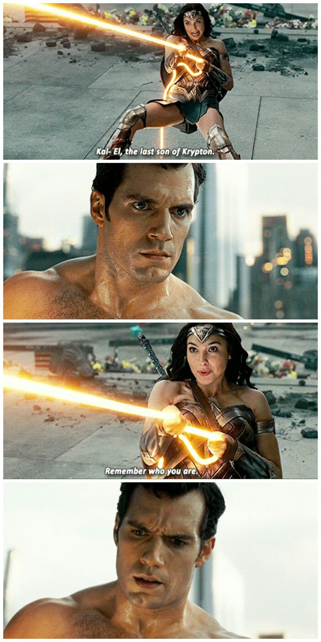Tell me who you are… #Superman #Wonder Woman