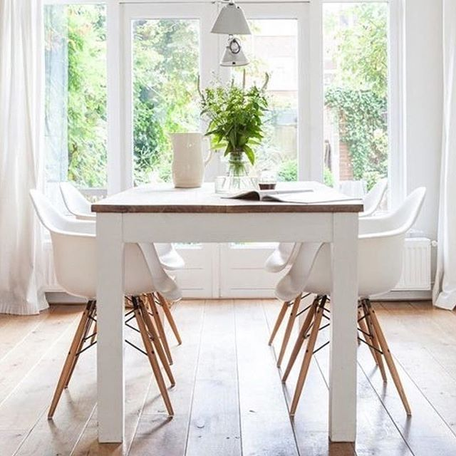 Such A Lovely Light And Airy Dining Room Via Desire To Inspire