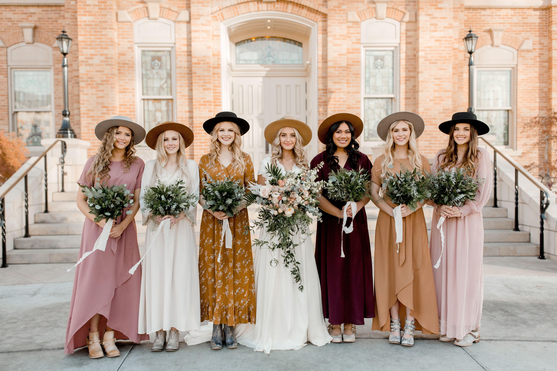 Boho Bridal Party By Gigi Pip Bohemian Bridesmaid Dress Bohemian Bridesmaid Bridesmaid Dresses Boho