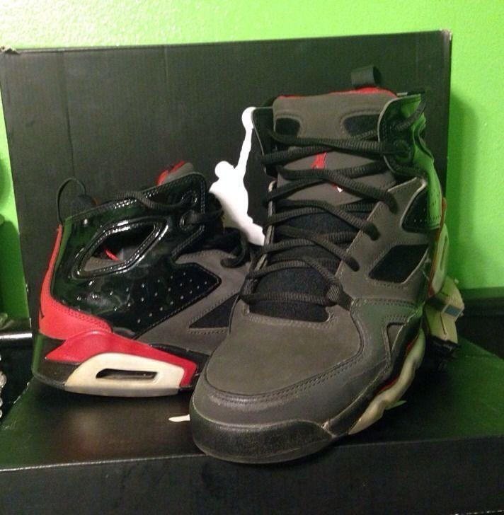 a5cda2b6008ed5 Men s Nike Air Jordan Flight Club 91 Black Gym Red 555475-001 Size ...