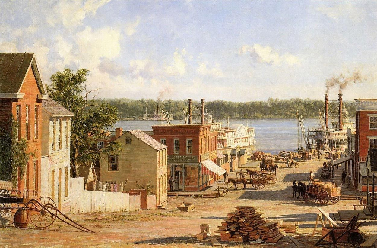 Pin by Susan Lenet on steamboats | Hannibal mo, Realism art