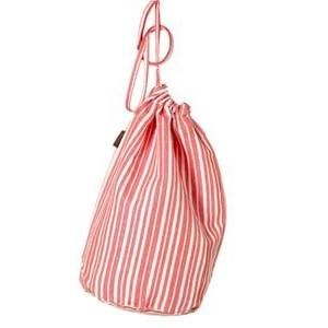 Red and White and Cute all all Over! Adorable Red and White Stripe Laundry Bag. Available in three sizes to fit your everyday laundry tasks and laundry travel needs. Features drawstring closure. Available at  http://laundryshoppe.com. http://bit.ly/1oy5qg7