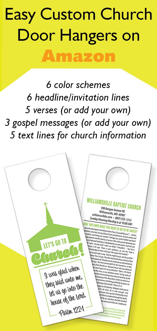 Easily Customize Your Church Door Hanger On Any Computer Or Device