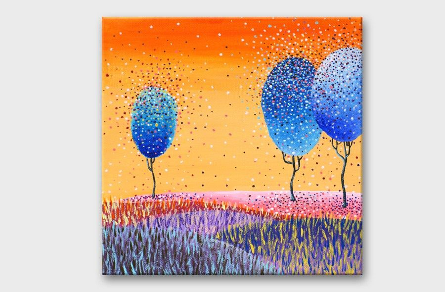 Paintings on canvas - Wall art canvas art - Acrylic painting ...