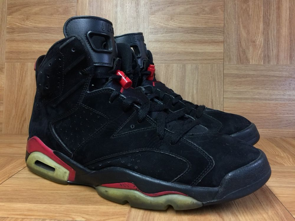 premium selection 69f3f 0b85a RARE🔥 Nike Air Jordan 6 VI Retro Black Varsity Red Sz 11 384664-061  Infrared LE