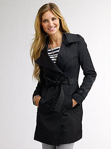 Black trench coat. Steve Madden. Great for Spring, Fall and Early Winter!