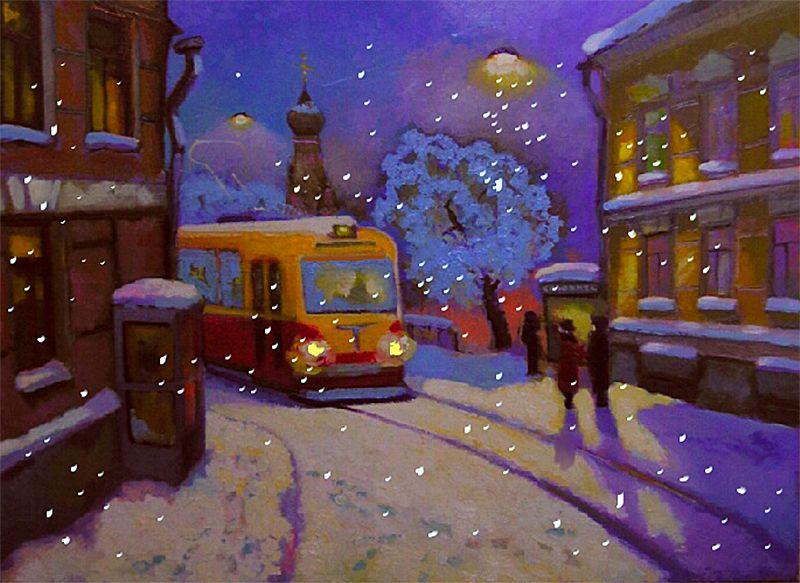 наше вечерний зимний город картинки нарисовать него много, чаще