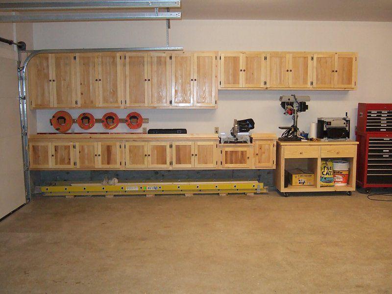 floating cabinets shop ideas garage shelving kitchen cabinets rh pinterest com