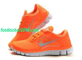 nike free run 3 orange womens athletic shoes