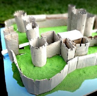 Caerphilly castle model | Castle crafts, Cardboard castle