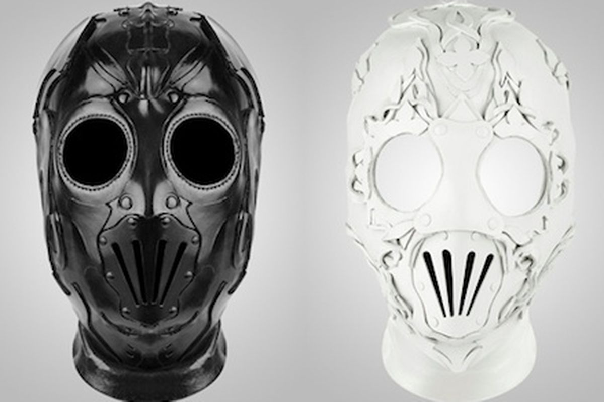 Givenchy collection bondage mask provocative bdsm high fashion in