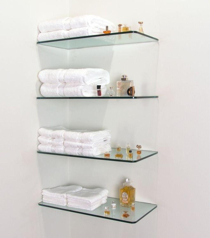 40 The Best Bathroom Glass Shelves Design Ideas In 2021 Glass Shelves In Bathroom Floating Glass Shelves Glass Shelves