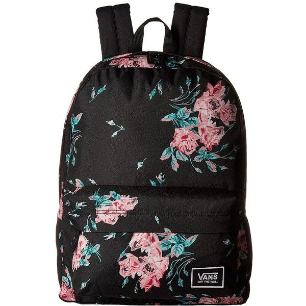 d377e620d14b48 Vans Realm Classic Backpack (Summer Rose) Backpack Bags ( 38) ❤ liked on  Polyvore featuring bags